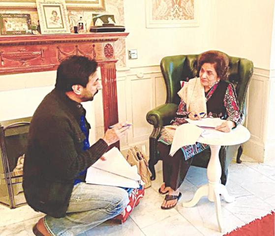 Sacch with director Zulfiqar Sheikh