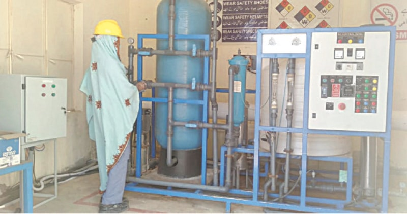 THARI women operate a couple of RO plants in Islamkot.—Dawn