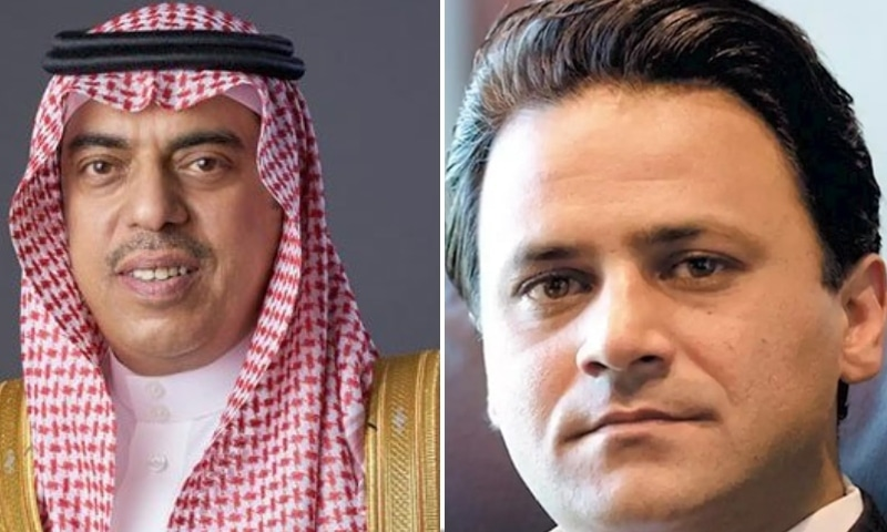 This combo photo shows Saudi investor Abdulaziz H. Aljomaiah (left) and Special Assistant to the Prime Minister on Power Tabish Gauhar. — Photo courtesy The News/Dawn