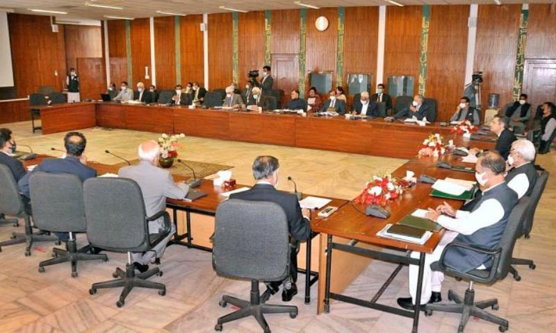 وزیرخزانہ حماد اظہر کی زیر صدارت ای سی سی کا اجلاس ہوا—فوٹو: اے پی پی