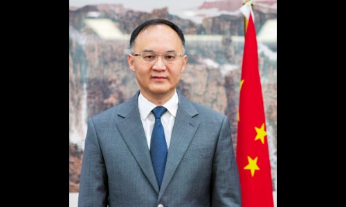 This file photo shows Chinese Ambassador to Pakistan, Nong Rong. — Photo courtesy Twitter