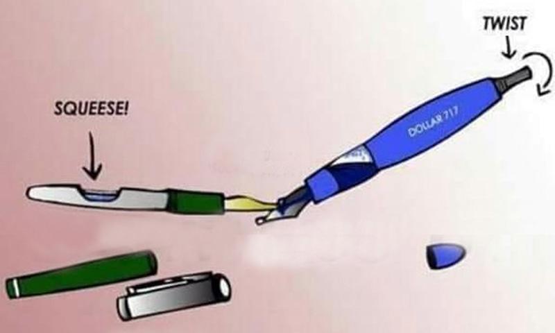 ایک پین سے دوسرے پین میں سیاہی بھرنا