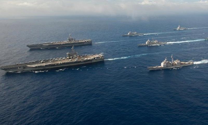 The US 7th Fleet. — Photo courtesy Twitter