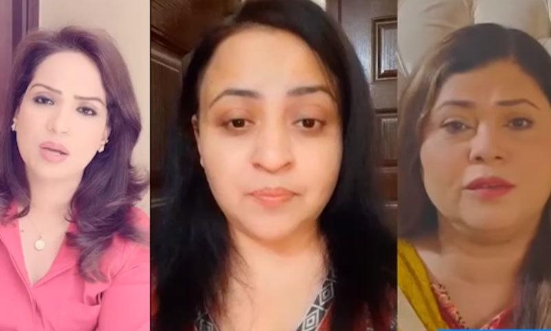 ملکی خواتین نے وزیر اعظم سے بیان واپس لینے کا مطالبہ بھی کیا—اسکرین شاٹ/ ڈان ویڈیو