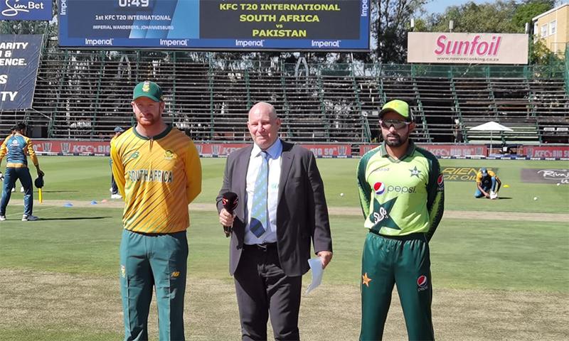 جنوبی افریقہ نے ٹاس جیت کر بلے بازی کا فیصلہ کیا— فوٹو بشکریہ پی سی بی