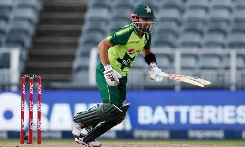 Mohammad Rizwan was the star for Pakistan, batting through the innings and scoring a swift 74 from 50 balls, including nine fours and two sixes. — Photo courtesy PCB Twitter