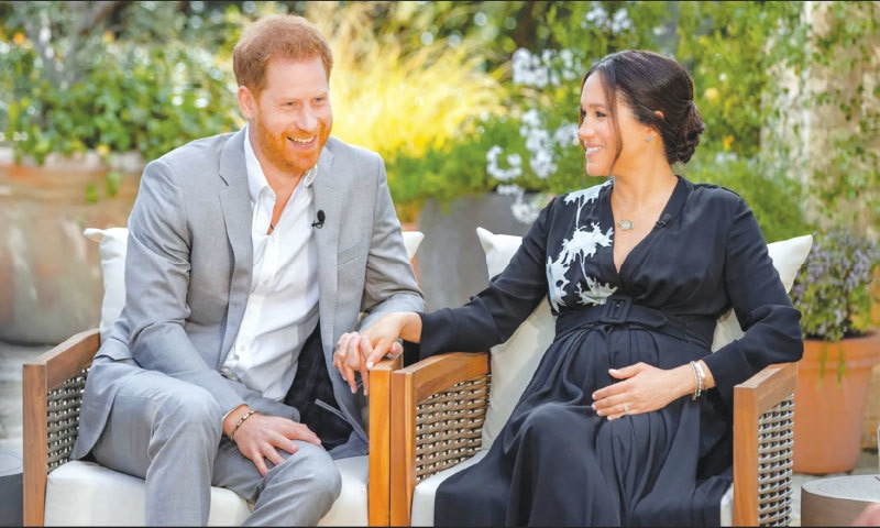 Harry and Meghan's reveal-all interview with Oprah, in March, went viral
