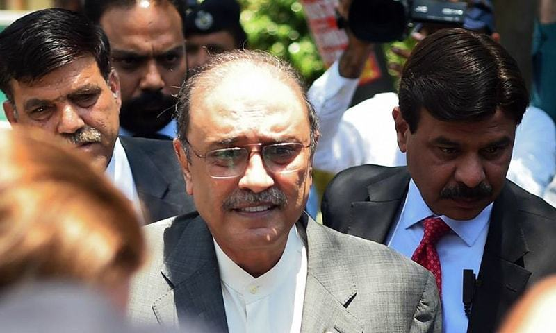 Former president Asif Zardari expressed the hope that all the democratic forces in the country would defend the 18th Amendment. — AFP/File