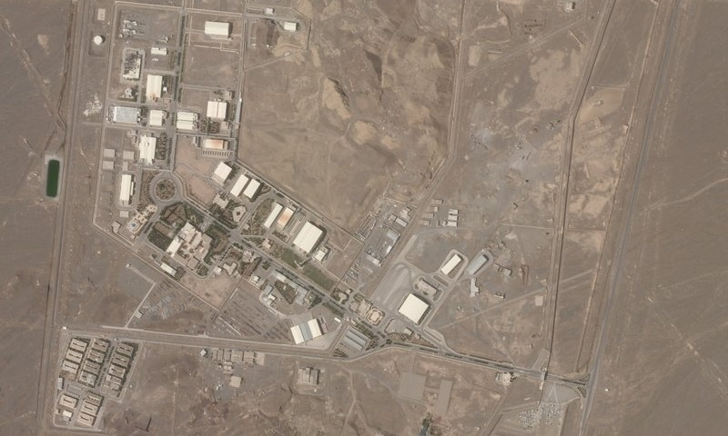 This satellite photo from Planet Labs Inc shows Iran's Natanz nuclear facility on Wednesday, April 7. — AP