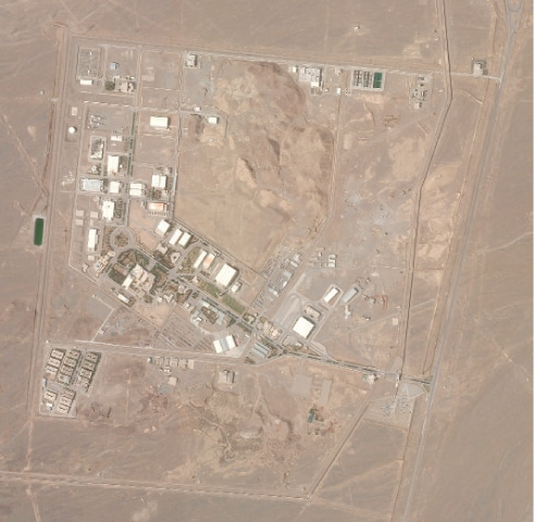 AN April 7 satellite photo from Planet Labs shows Iran's Natanz nuclear facility.—AP