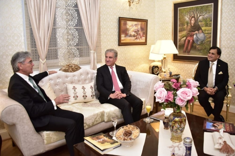 Foreign Minister Shah Mahmood Qureshi said that the government is inviting the world's attention towards economic opportunities in Pakistan through economic diplomacy. — Photo courtesy: Radio Pakistan