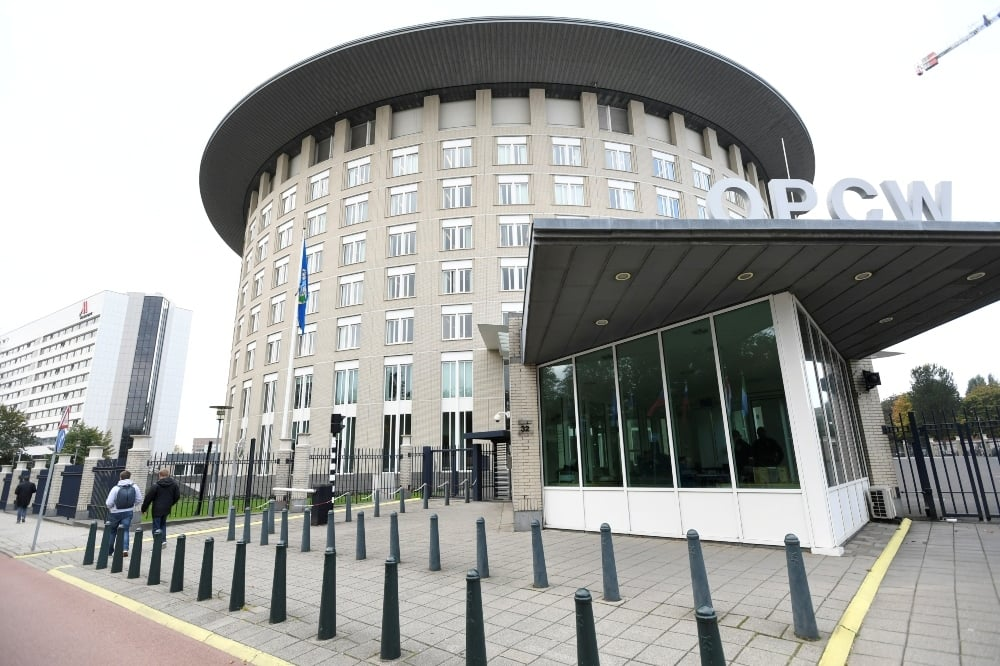 The headquarters of the Organization for the Prohibition of Chemical Weapons (OPCW) is pictured in The Hague. — Reuters