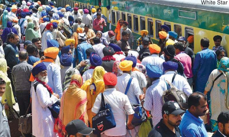 Some 815 Sikhs arrived here from India on Monday to attend Vaisakhi festival. — White Star/File