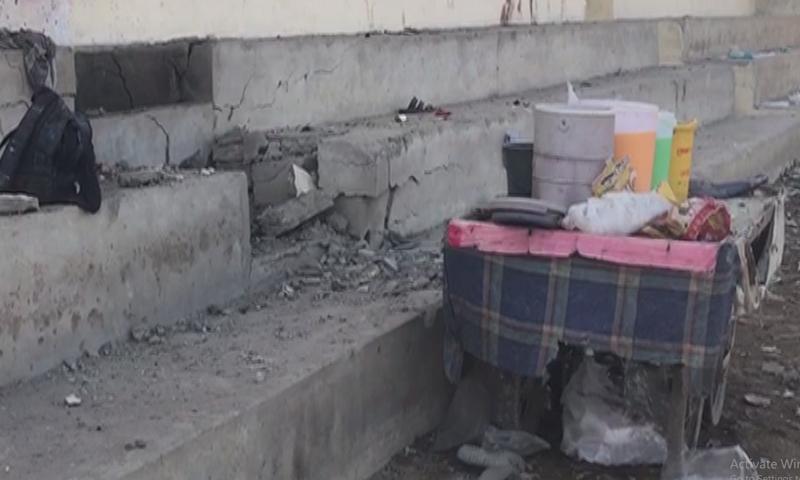 دھماکا تماشائیوں کے درمیان ہوا اور تمام زخمی افراد کو ہسپتال منتقل کردیا گیا ہے— فوٹو: ڈان نیوز