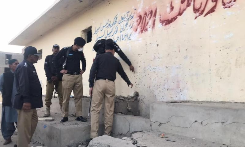 At least 12 persons were injured in an explosion during a football match on Tuesday at a ground in Allahbad Town located in Balochistan's industrial town of Hub. — Photo provided by author