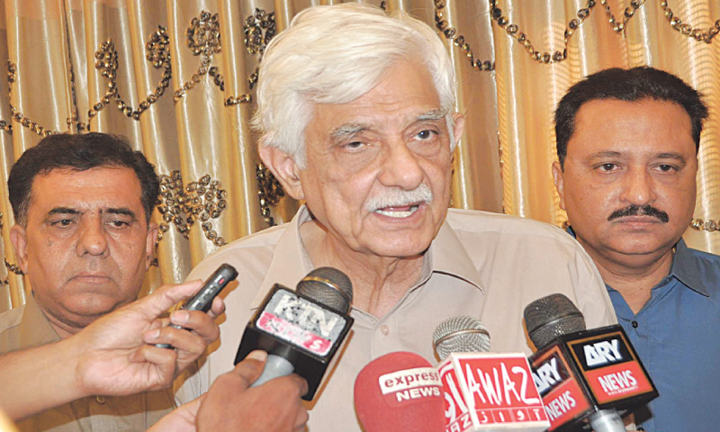"""No one in his right mind can trust this government. Sindh is not prepared to be deceived twice on the same issue,"" PPP Senator Taj Haider said. — File"