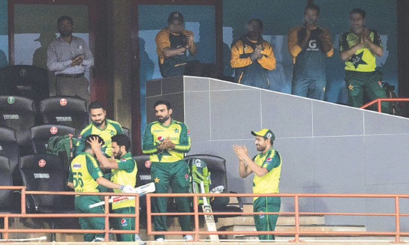BABAR Azam is lauded by team-mates after his dismissal for 122 on Wednesday.—AP