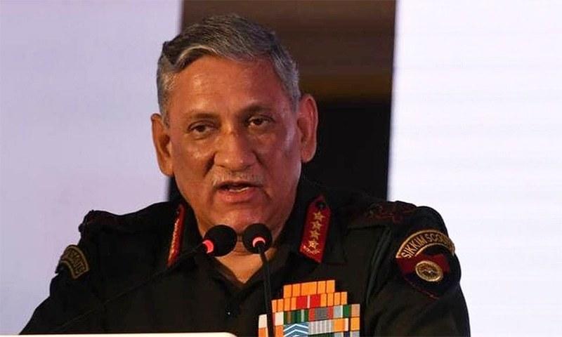 Indian army chief Bipin Rawat. — Photo courtesy The Hindu/File