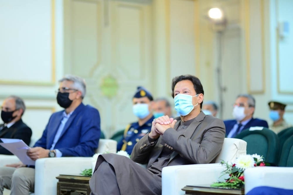 Prime Minister Imran Khan attends the launching ceremony of online services for the Pakistan Medical Commission. — Photo courtesy PMO Twitter