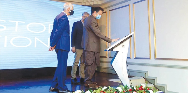 ISLAMABAD: Prime Minister Imran Khan launches the PMC Online.—APP
