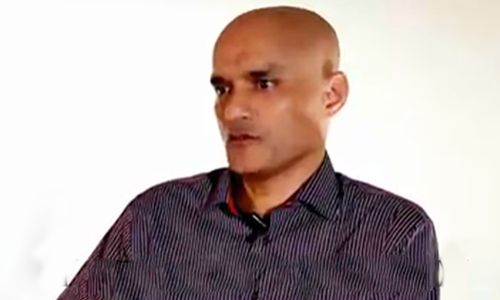 Kulbhushan Jadhav was convicted on charges of espionage and terrorism and sentenced to death by a military court. — DawnNewsTV/File