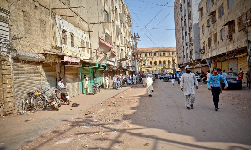 This file phot shows a deserted Jodia Bazaar. — Fahim Siddiqi/White Star