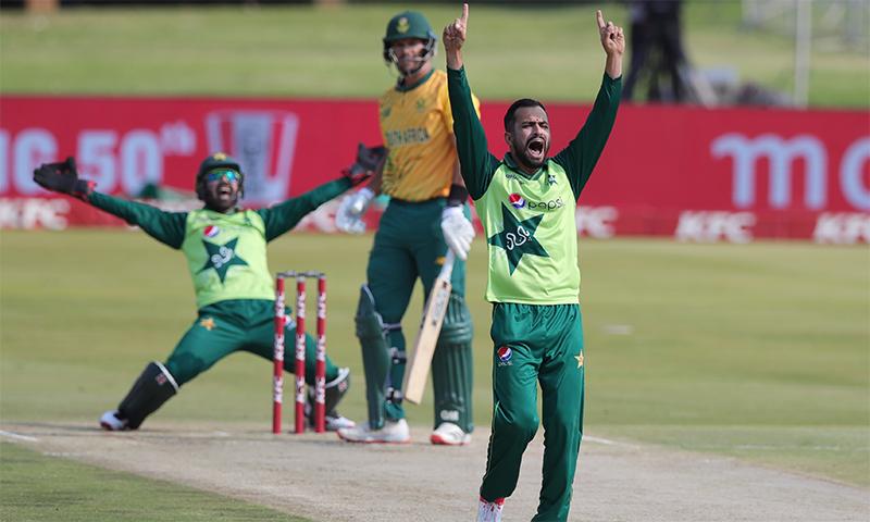 پاکستان کے خلاف آخری ٹی20 میچ میں جنوبی افریقہ کی بیٹنگ لائن ناکامی سے دوچار ہو گئی— فوٹو بشکریہ پی سی بی