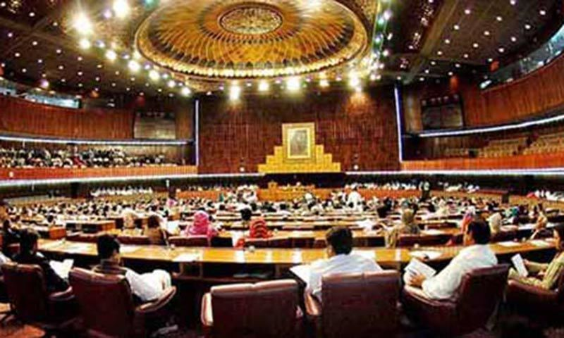 "The opposition on Friday lashed out at the government in the National Assembly for signing what it called an ""illogical"" agreement with the Tehreek-i-Labbaik Pakistan (TLP) last year. — APP/File"
