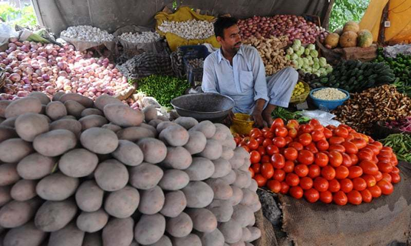 Weekly inflation for the combined group in the period ended on April 15 slightly increased by 0.54 per cent on the back of an uptick in prices of essential food items. — Dawn/File