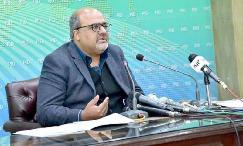 Adviser to Prime Minister on Accountability and Interior Shahzad Akbar addresses a press conference in Islamabad. — APP/File