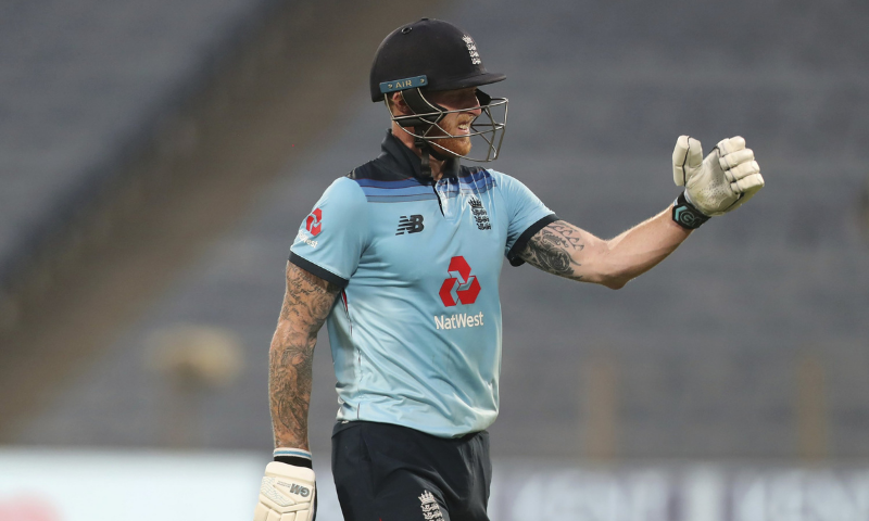 In this file photo, England's Ben Stokes reacts as he walks off the field after losing his wicket during the third One Day International cricket match between India and England at Maharashtra Cricket Association Stadium in Pune, India. — AP