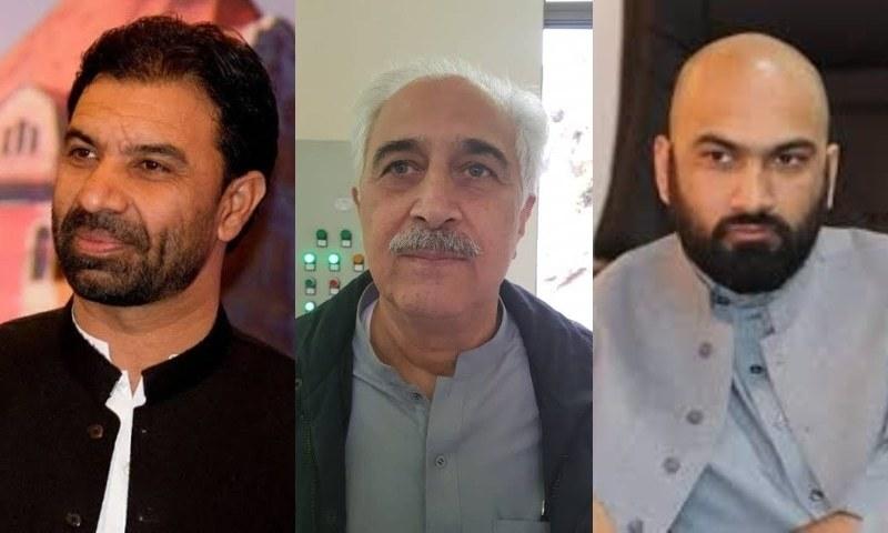 This combo photo shows Ziaullah Bangash (left) Himayatullah Khan (centre) and Ghazan Jamal. — Photos provided by author