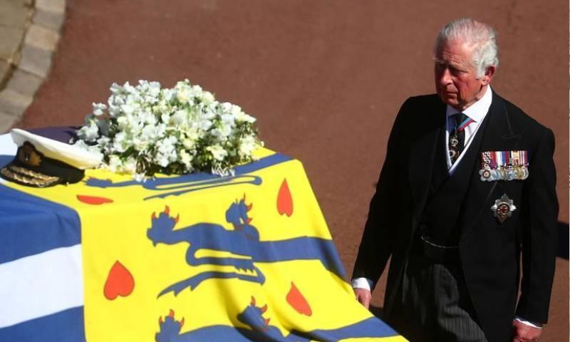 شہزادہ فلپ کی آخری رسومات ونڈزر قلعے میں ادا کی گئی—فوٹو: رائٹرز