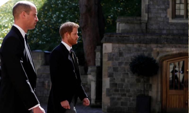 آخری رسومات میں شہزادہ ہیری بھی شریک ہوئے—فوٹو: :رائٹرز