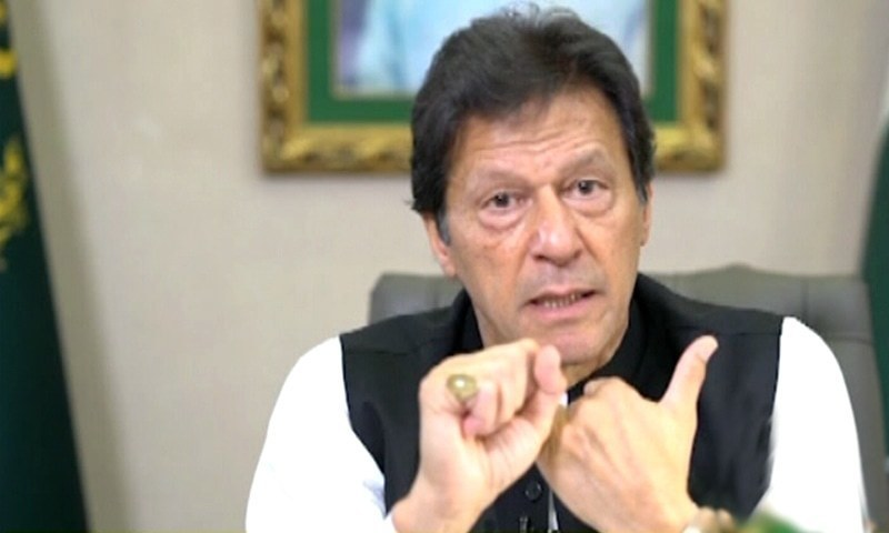 Western governments should treat the people who insult the Prophet (peace be upon him) the same as those who deny the Holocaust, Prime Minister Imran Khan has said. — DawnNewsTV/File