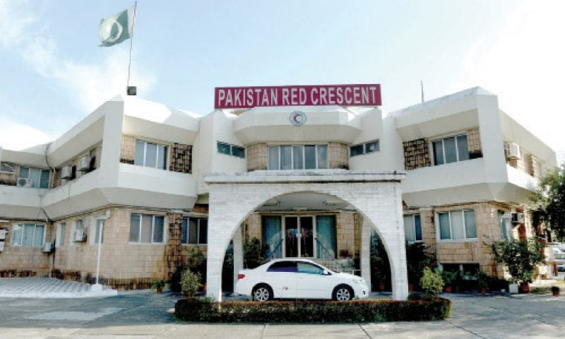 The main Pakistan Red Crescent Society building in Islamabad. — Dawn/File