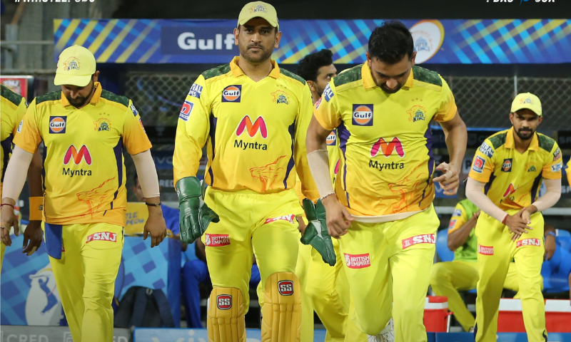 Former India captain Mahendra Singh Dhoni marked his 200th game for Chennai Super Kings on Friday with a crushing six-wicket Indian Premier League win over Punjab Kings. — Photo courtesy: CSK Twitter