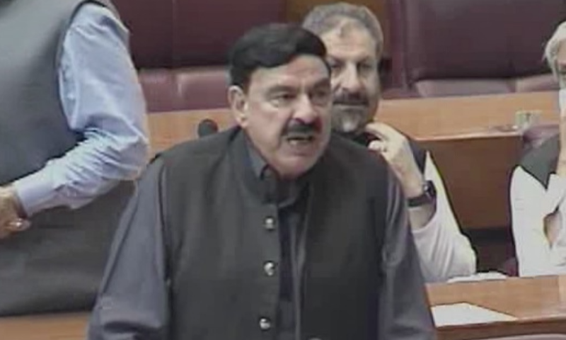 Interior Minister Sheikh Rashid Ahmed on Monday asked the lawmakers to wait for Prime Minister Imran Khan's address to the nation on television. — DawnNewsTV