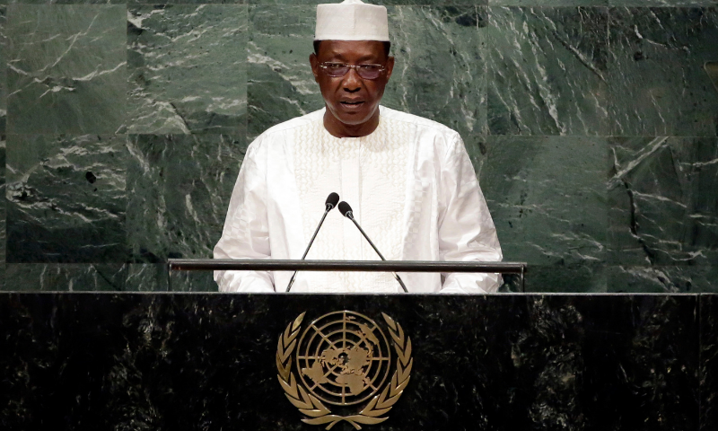 In this file photo, Chadian President Idriss Deby Itno addresses a session of the United Nations General Assembly, at UN headquarters. — AP