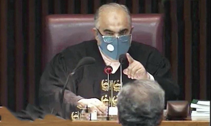 'ہتک آمیز رویہ': پی ٹی آئی کی شاہد خاقان عباسی کی اسپیکر سے تلخ کلامی پر تنقید