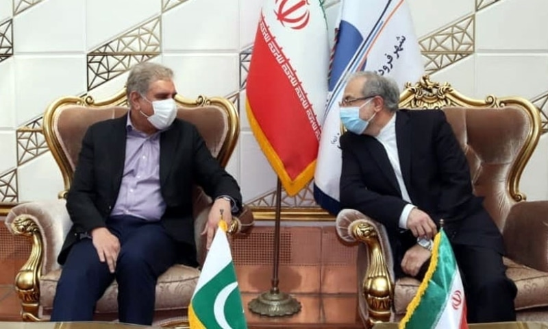 Foreign Minister Shah Mahmood Qureshi meets Iran's Deputy Foreign Minister for West Asia Rasoul Mousavi. — Photo courtesy: Twitter