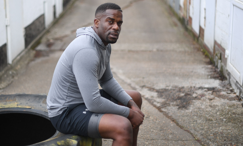 Frenchman Christian Elombo, a fitness coach based in London, poses for a picture in south London three years after he took part in a doomed bid to help the daughter of Dubai's ruler flee the UAE. — AFP