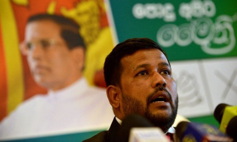 Rishad Bathiudeen, leader of the All Ceylon Makkal Party. — AFP/File