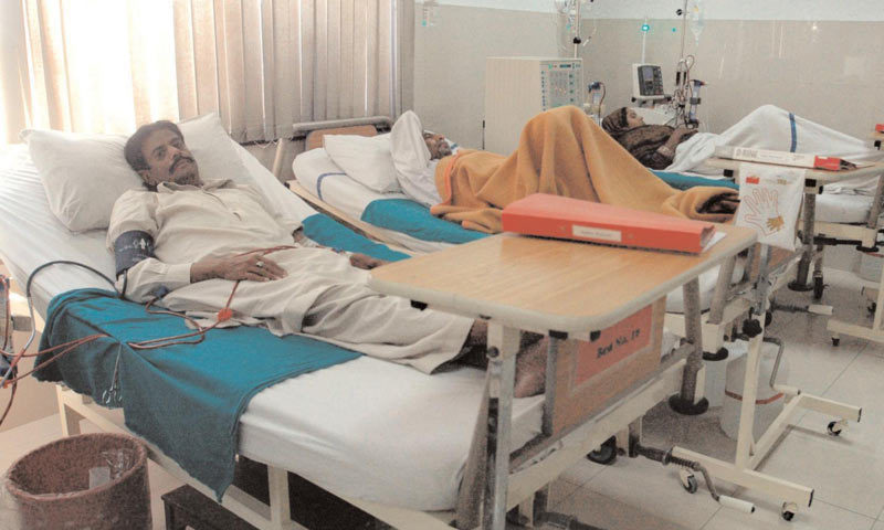 The private hospitals in Peshawar and Swat have begun providing admission, ventilator, medical oxygen, diagnosis and medicines to the people infected with the virus free of charge under the government's Sehat Sahulat Programme. — Dawn/File