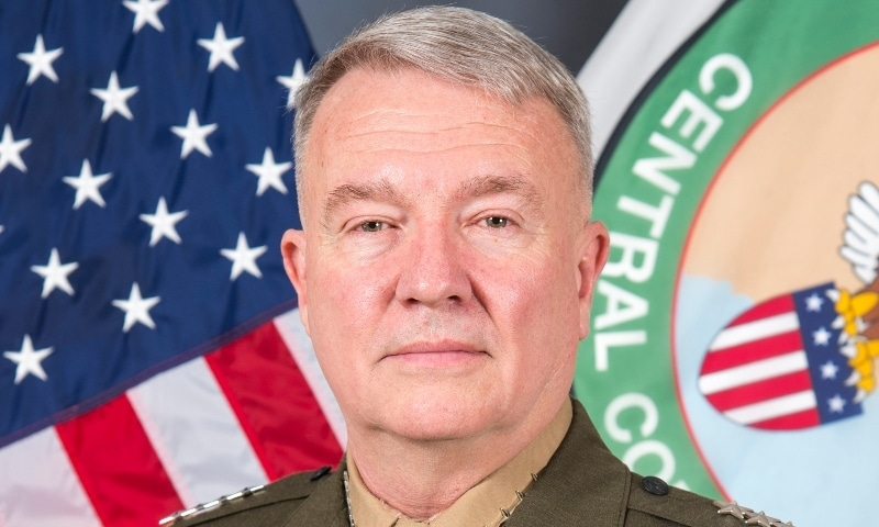 Gen Kenneth F. McKenzie Jr., Commander US Central Command (Centcom), warned at a recent Pentagon briefing that after the US withdrawal the biggest threat would be the regrouping of Al Qaeda and IS militants. — Photo courtesy US Central Command website