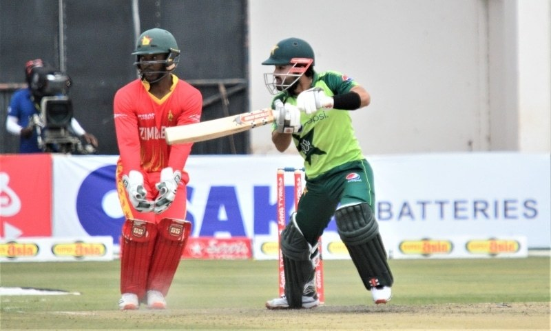 Mohammad Rizwan struck 91 runs off 60 balls as Pakistan sped to 165-3 in 20 overs against Zimbabwe on Sunday in the third and final T20 in Harare, Zimbabwe, April 25. — Photo courtesy PCB