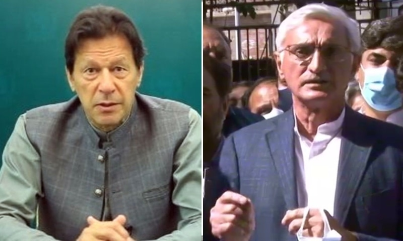 This combo photo shows Prime Minister Imran Khan (left) and Jahangir Tareen. — DawnNewsTV/Radio Pakistan
