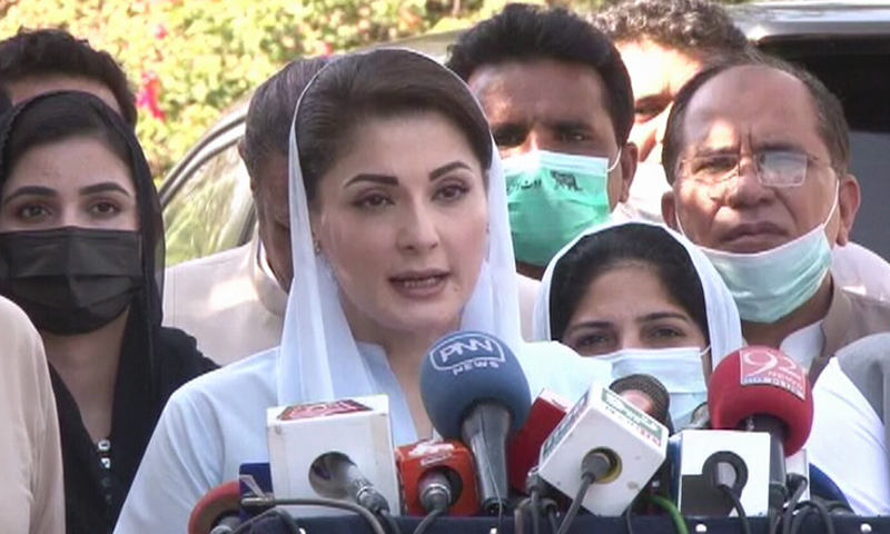 """PML-N's Maryam Nawaz on Tuesday expressed concern over reports about """"secret talks"""" between India and Pakistan. — DawnNewsTV/File"""