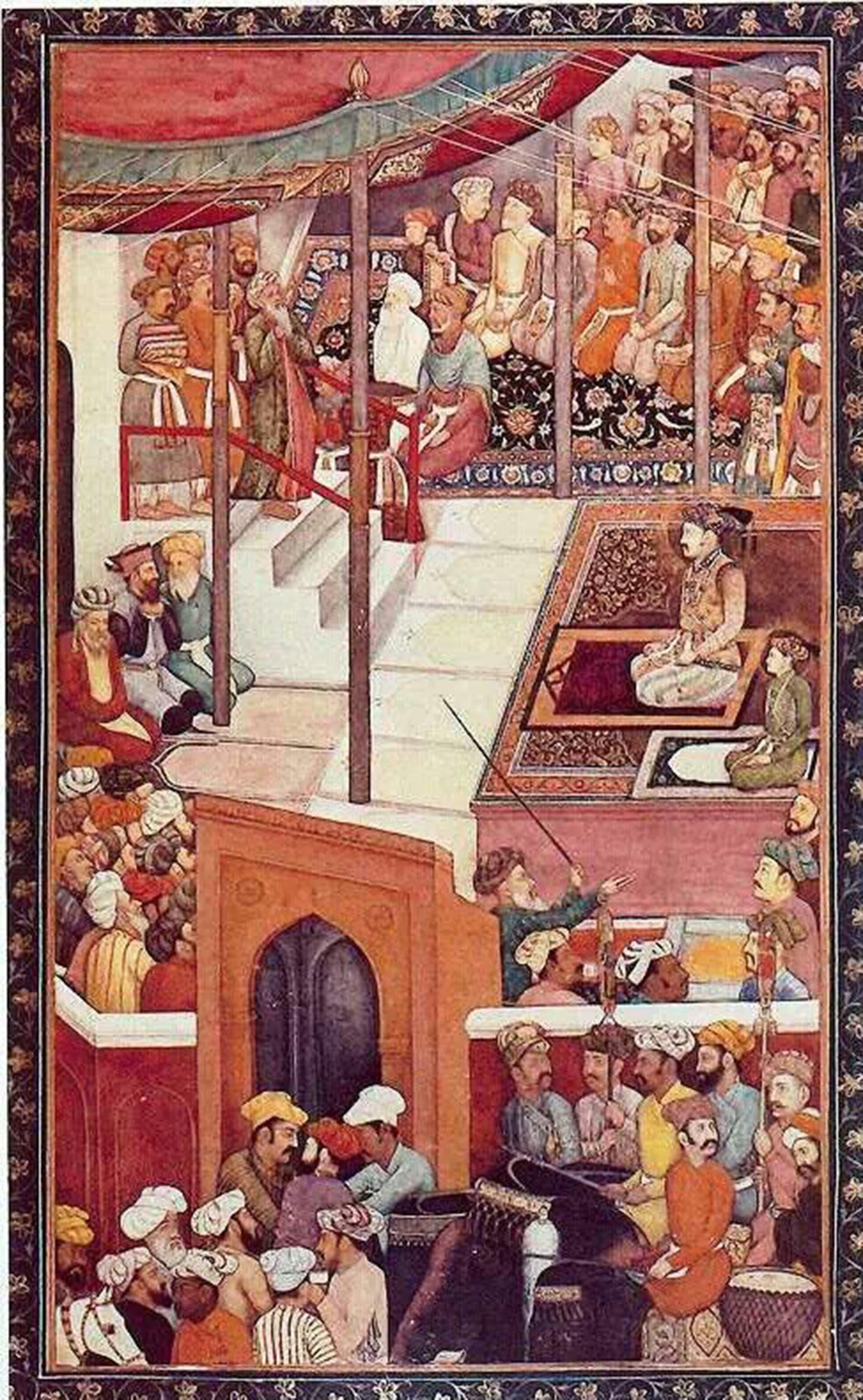 1610ء میں نمازِ عید کے موقعے پر مغل شہنشاہ جہانگیر