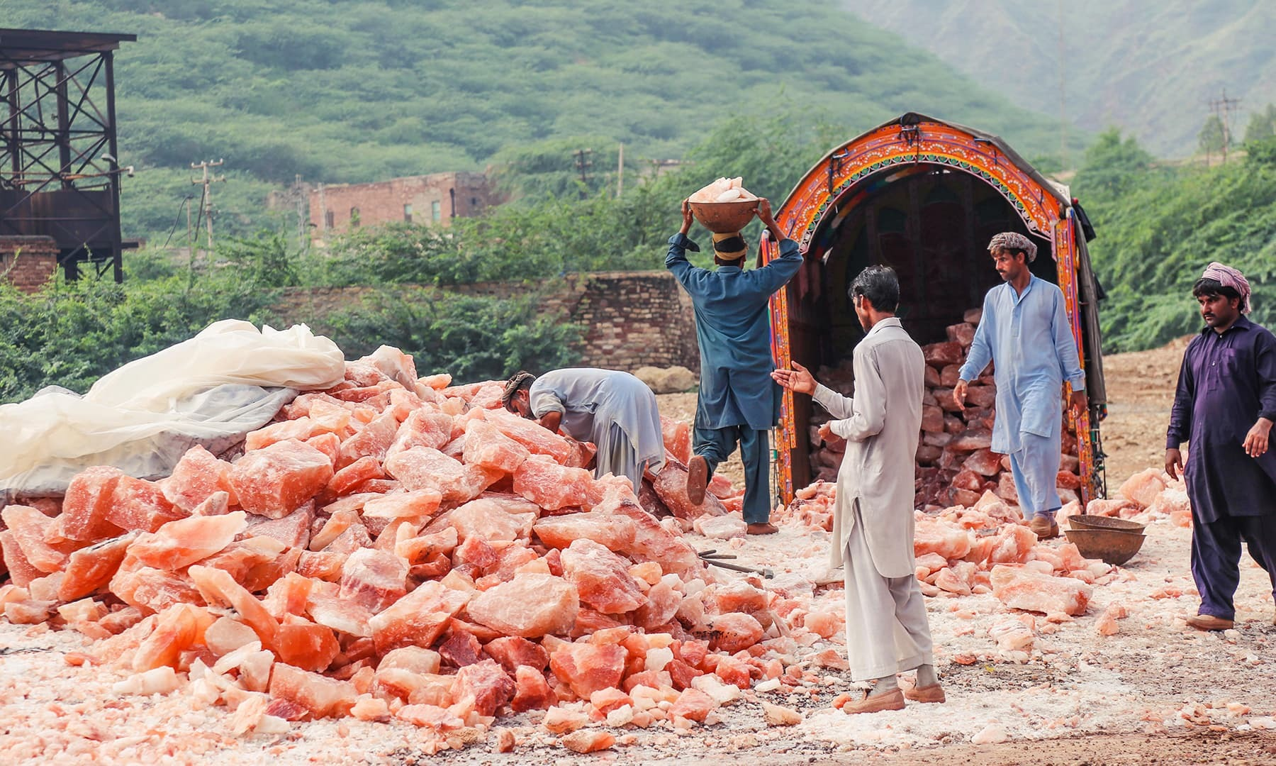 Pakistan is close to taking the lead in the global salt trade, as local rock salt of Khwera is set to be registered with international trade bodies. — Photo courtesy Fazal Khaliq/File